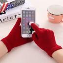 Rukavice pro dotykové displeje, červená