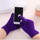 Rukavice pro dotykové displeje, fialová