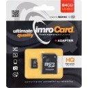 IMRO Micro SDXC 64GB + SD adaptér class 10 UHS-I
