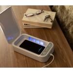 UV sterilizátor na dezinfekci telefonů, bílý