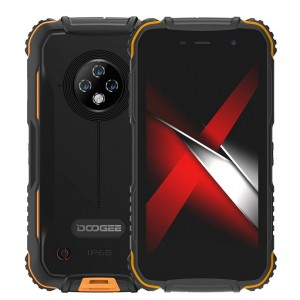 Doogee S35 2GB/16GB černý/oranžový
